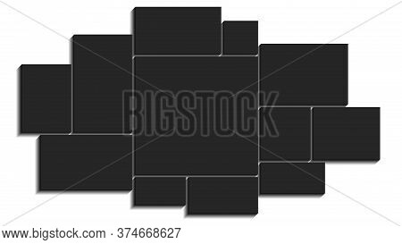 Templates Collage 12 Frame Photos.template Of Moodboard. Vector Illustration.