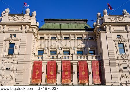Belgrade / Serbia - November 30, 2019: National Theater Of Serbia In The Republic Square In Belgrade