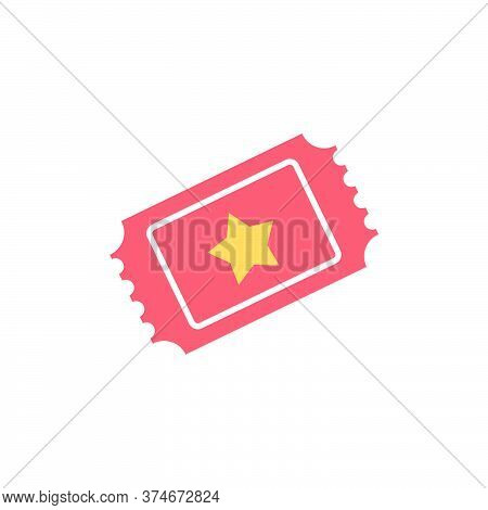 Ticket Vector Icon Symbol Permission Isolated On White Background