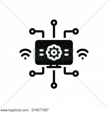 Black Solid Icon For Modernization Modernisation Digital Automation Technology
