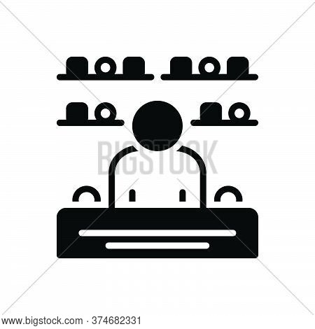 Black Solid Icon For Merchandising Shop Consumer Sale Selling