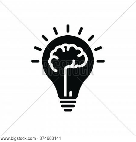 Black Solid Icon For Mindset Mentality Motivation Creativity Mind