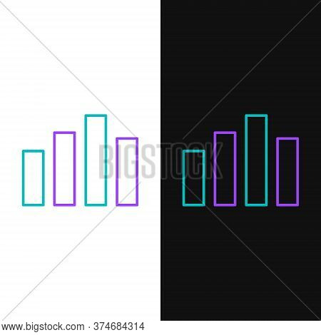 Line Music Equalizer Icon Isolated On White And Black Background. Sound Wave. Audio Digital Equalize