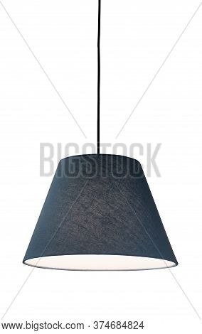 Decorative Lamp Hanging From The Ceiling.modern Lamp Isolated On White Background