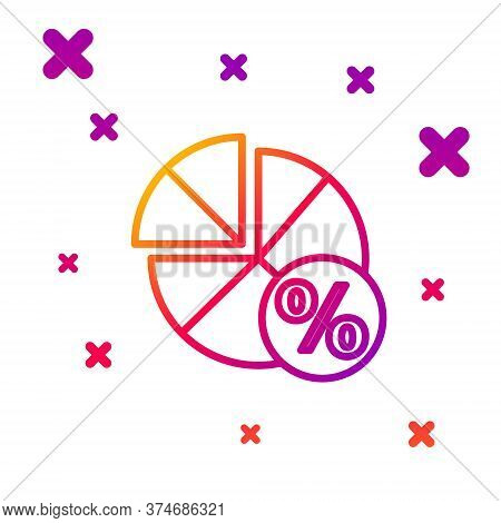 Color Line Math System Of Equation Solution On Speech Bubble Icon Isolated On White Background. Grad