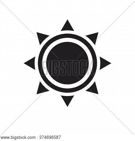Sun Icon Isolated On White Background, Sun Vector Icon Black