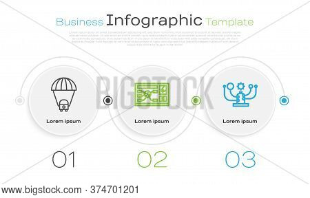 Set Line Planet Saturn, Futuristic Hud Interface And Solar System. Business Infographic Template. Ve