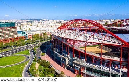Amazing Architecture Of Benfica Lisbon Soccer Stadium Estadio Da Luz - Lisbon, Portugal - November 5