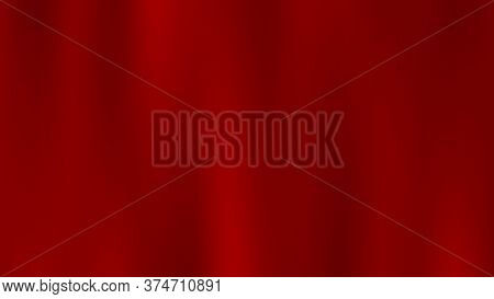 Beautiful Red Silk Cloth. Luxury Red Satin Smooth Fabric Background. Luxury Vector Cloth Background