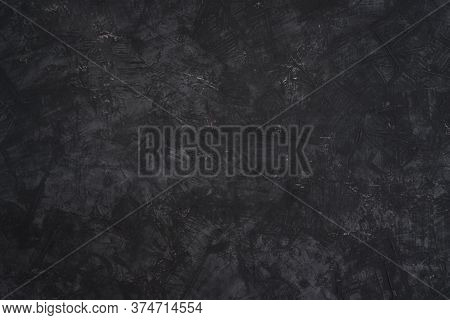 Abstract Grey Background Grunge Texture And Dark Grey Charcoal Color Paint.