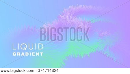 Vibrant Background. Pastel Digital Design. Vector Futuristic Wallpaper. Fluid Abstract Movement. Wav