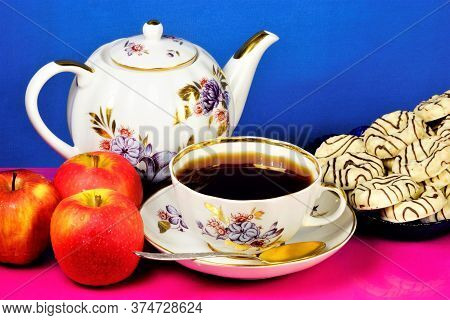 Tea In A Cup. A Daily, Delicious, Invigorating Drink. Apples Are Useful Vitamins. Cookies Are A Popu