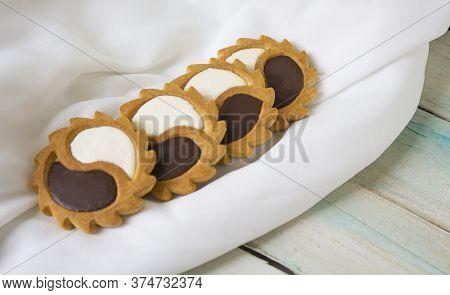 Biscuit. Texture Background. Biscuits Biscuit Texture Stack Of Biscuit Crumpet Tea Biscuit Pattern.