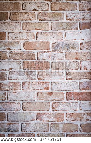 Brick Wall With Modern Textured Finish To Look Aged