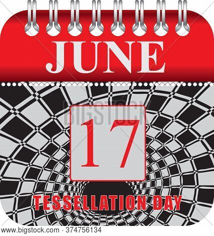 Calendar With Perforation For Changing Dates - June Tessellation Day
