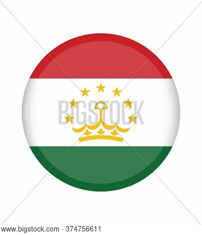 National Tajikistan Flag, Official Colors And Proportion Correctly. National Tajikistan Flag.