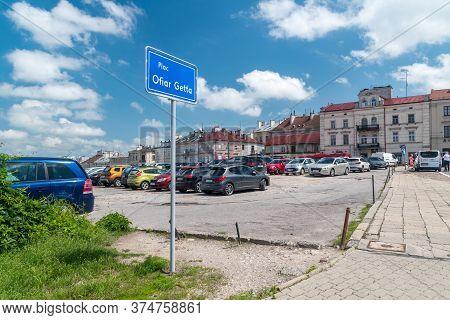 Lublin, Poland - June 11, 2020: Ghetto Victims Square In Lublin.