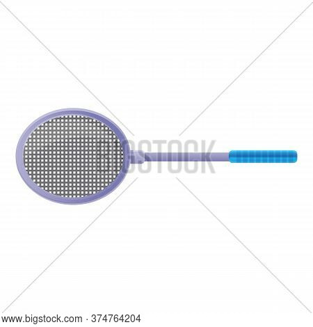 Badminton Racket Icon. Cartoon Of Badminton Racket Vector Icon For Web Design Isolated On White Back