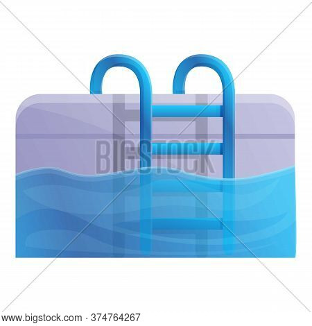 Sport Swimming Pool Icon. Cartoon Of Sport Swimming Pool Vector Icon For Web Design Isolated On Whit
