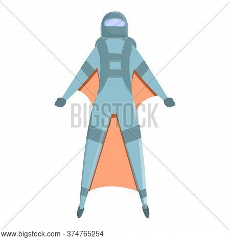 Air Sport Skydiver Icon. Cartoon Of Air Sport Skydiver Vector Icon For Web Design Isolated On White
