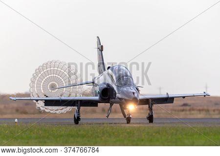 Avalon, Australia - February 28, 2015: Royal Australian Air Force (raaf) Bae Hawk 127 Aircraft Landi