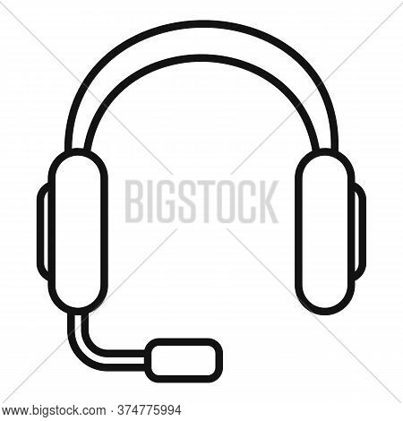 Headphones Icon. Outline Headphones Vector Icon For Web Design Isolated On White Background