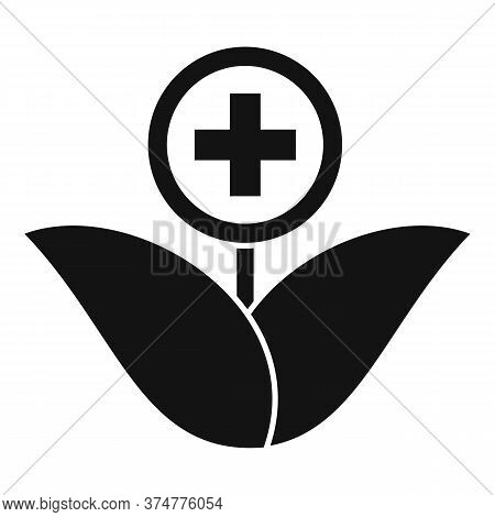 Medicinal Herbs Icon. Simple Illustration Of Medicinal Herbs Vector Icon For Web Design Isolated On
