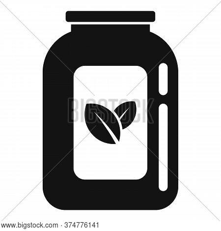 Medicinal Herbs Jar Icon. Simple Illustration Of Medicinal Herbs Jar Vector Icon For Web Design Isol