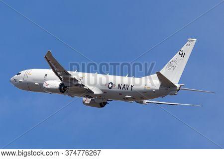 Avalon, Australia - March 2, 2015: United States Navy Boeing P-8a Poseidon Anti-submarine Warfare An