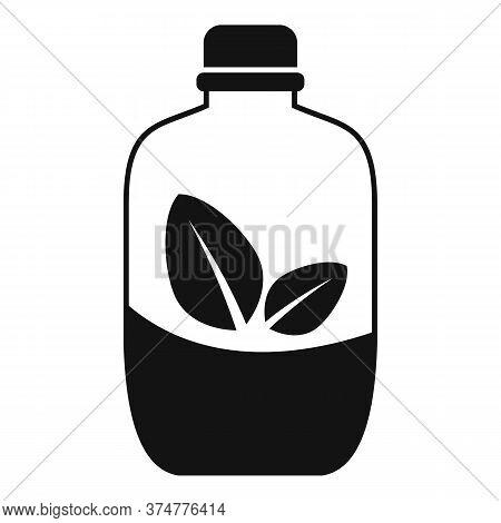 Half Medicine Herb Jar Icon. Simple Illustration Of Half Medicine Herb Jar Vector Icon For Web Desig