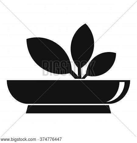 Echinacea Herbs Plate Icon. Simple Illustration Of Echinacea Herbs Plate Vector Icon For Web Design