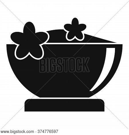 Herbs Powder Bowl Icon. Simple Illustration Of Herbs Powder Bowl Vector Icon For Web Design Isolated