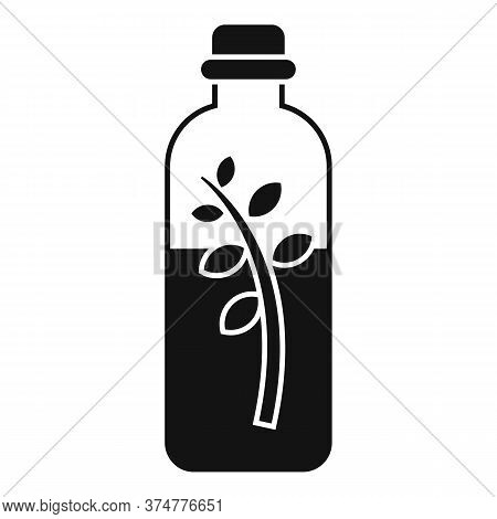 Medicinal Herbs Liquid Bottle Icon. Simple Illustration Of Medicinal Herbs Liquid Bottle Vector Icon