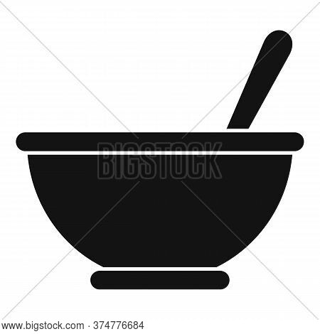 Herbs Bowl Icon. Simple Illustration Of Herbs Bowl Vector Icon For Web Design Isolated On White Back