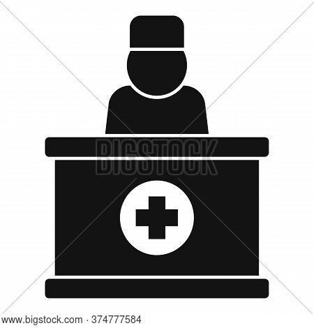 Private Clinic Reception Icon. Simple Illustration Of Private Clinic Reception Vector Icon For Web D