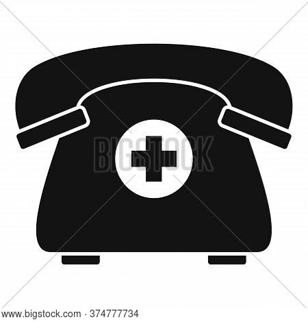 Private Clinic Telephone Icon. Simple Illustration Of Private Clinic Telephone Vector Icon For Web D
