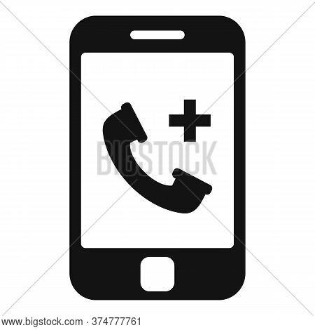 Private Clinic Smartphone Icon. Simple Illustration Of Private Clinic Smartphone Vector Icon For Web