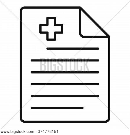 Private Clinic Paper Icon. Outline Private Clinic Paper Vector Icon For Web Design Isolated On White