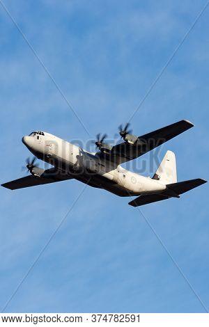 Avalon, Australia - March 2, 2015: Royal Australian Air Force Lockheed Martin C-130j Hercules Milita