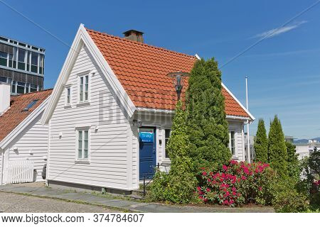Traditional Wooden Houses In Gamle, Which Is A Historic Area Of The City Of Stavanger In Rogaland, N