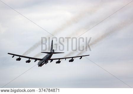 Avalon, Australia - February 27, 2015: United States Air Force (usaf) Boeing B-52h Stratofortress St