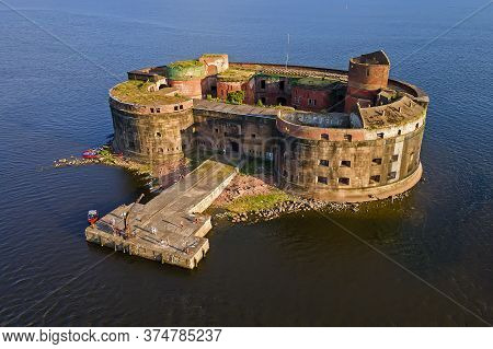 The Old Fort, Built On A Stone Island From Stone And Brick Served A Defensive Function. Now The Fort