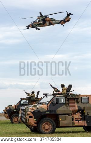 Avalon, Australia - February 27, 2015: Two Australian Army Bushmaster Armoured Personnel Carriers (a