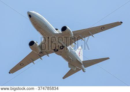 Avalon, Australia - February 25, 2015: Royal Australian Air Force (raaf) Boeing E-7a Wedgetail A30-0