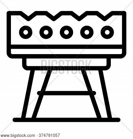 Barbeque Grill Icon. Outline Barbeque Grill Vector Icon For Web Design Isolated On White Background