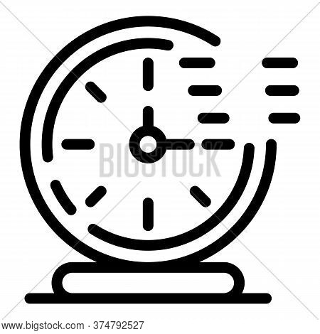 Timer Clock Stopwatch Icon. Outline Timer Clock Stopwatch Vector Icon For Web Design Isolated On Whi