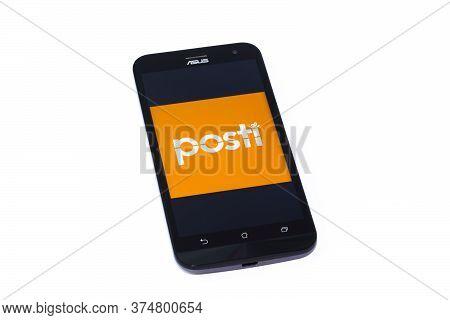Kouvola, Finland - 23 January 2020: Posti App Logo On The Screen Of Smartphone Asus