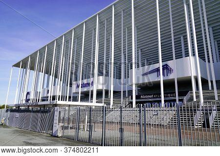 Bordeaux , Aquitaine / France - 10 25 2019 : Matmut Atlantique Stadium Outdoor Entrance In Bordeaux