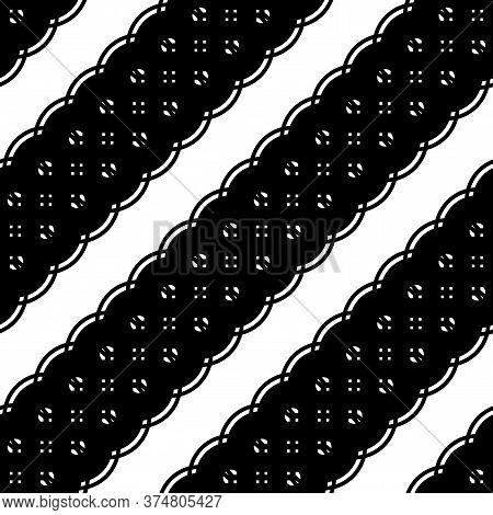 Design Seamless Stripy Pattern. Abstract Monochrome Background. Vector Art
