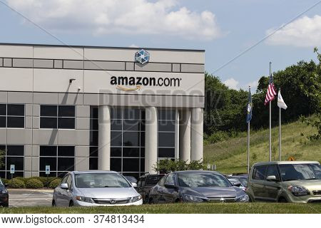 Hebron - Circa July 2020: Amazon.com Fulfillment Center. Amazon Is The Largest Internet-based Retail